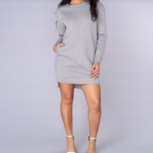 Fashion Nova Overprotected Grey Sweatshirt -Size M